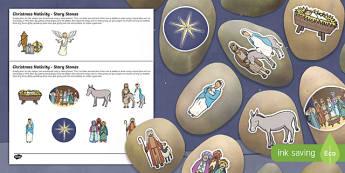 Christmas Nativity Story Stones