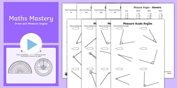 Year 5 Geometry Shape Draw and Measure Angles Maths Mastery Activities  Resource Pack