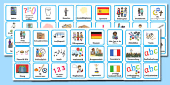 Visual Timetable for KS1 Plain German - german, Visual Timetable, SEN, Daily Timetable, School Day, Daily Activities, Daily Routine KS1, Foundation Stage