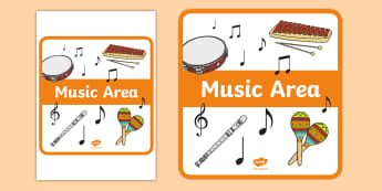 Music Area Sign - sign, display sign, area display sign, area sign, area, music area, music display, music sign, music classroom area, classroom areas, school areas, classroom area signs, topic signs, topic area signs