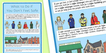 What to Do if You Don't Feel Safe Display Poster - what to do, don't feel safe, display poster, display, poster