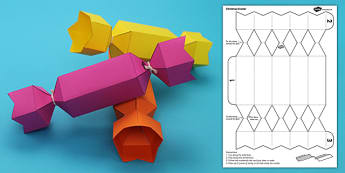 Christmas Cracker Paper Craft - christmas, cracker, paper, craft