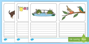 Plural Pictures Simple Sentence Writing Frames - plural, pictures, writing frame, writing, support, lined