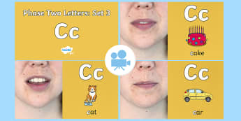 Phase Two Phonemes: Set 1: 'c' Video - Phonics, Letters and Sounds, Grapheme, pronunciation, C,G,K,O,phoneme