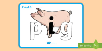 P and G Display Poster - p and g Display Posters - literacy, confusing letters, p and g, P, G, letters, alphabet, activity, h