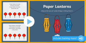 Paper Lanterns Song PowerPoint - EYFS, Early Years, Key Stage 1, KS1, Chinese New Year, festivals, Spring Festival, dragon dance, red