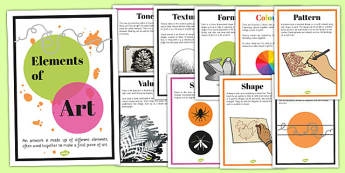 Elements of Art Display Posters - elements, art, display, poster