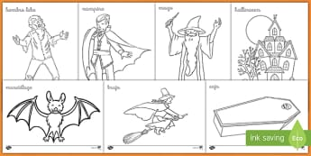 Halloween Colouring Pages - halloween, activity, sheet, worksheet, colour, motor, skills