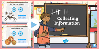 Foundation Collecting Data PowerPoint - Australian Curriculum Statistics and Probability, foundation, collecting data, yes and no questions,