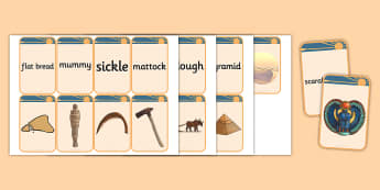 Ancient Egypt Matching Flashcards - flashcards, matching, egypt
