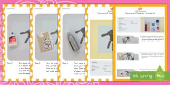 Decorated Elephant Handprint Craft Instructions - decorated elephant, handprint, craft, Diwali, Hinduism