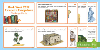 Book Week 2017 Reading Challenge Cards - Reading, Guided Reading, Setting, Book Week, Escape to Everywhere