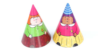 Fairy Cone Characters - fairies, fantasy, cone people, crafts, design