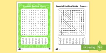 New Zealand List 4 Essential Spelling Word Search