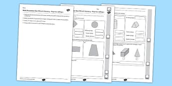 Year 2 Maths Assessment Geometry Properties of Shapes Term 3 - Maths, Assessment, Geometry, Shape