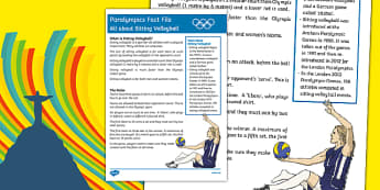 Rio Paralympics 2016: All About Sitting Volleyball  Fact File