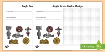 Anglo Saxon Brooch Design Sheet - designs, history, saxons