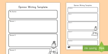 Opinion Writing Template - Writing, Opinion Writing, ELA, Common Core, Graphic Organizer