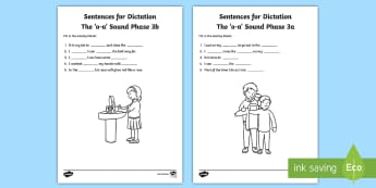 Northern Ireland Linguistic Phonics Stage 5 and 6, Phase 3a and 3b, 'oa' Dictation Sentences Activity - Linguistic Phonics, Stage 5, Stage 6, Phase 3a, Phase 3b, Northern Ireland, sentences, dictation, wo