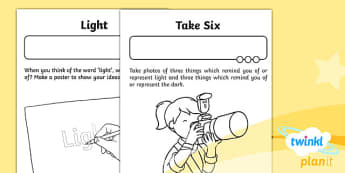 RE: Light and Dark Year 2 Home Learning Tasks