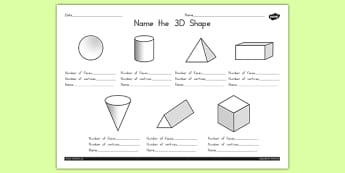 Name the 3D Shape Worksheet 1 - australia, 3d, shape, names