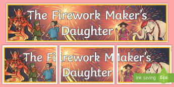 The Firework Makers Daughter Display Banner - header, myths