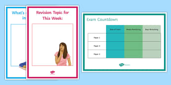 Maths Exam Countdown Display Pack - New curriculum, GCSE, KS4, Revision, Technique, focus, timer