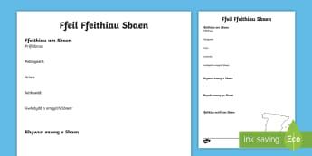 Templed Ysgrifennu Ffeithiau ar Sbaen - rhyngwladol, daearyddiaeth, ewrop, spain, fact writing, ,Welsh-translation