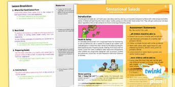 PlanIt - Design and Technology KS1 - Sensational Salads Planning Overview