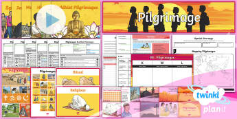 PlanIt - RE Year 4 - Pilgrimages Unit Pack  - Pilgrimage, Pilgrim, Christianity, Lourdes, Hinduism, Kumbh Mela, Islam, Hajj, Judaism, Western Wall