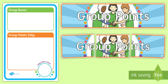 Group Points Display Pack - Back to School Australia, back to school, Australia, team points, group points, points, class points