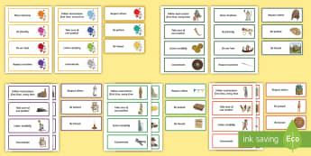 KS2 Themed Class Charter Card Display Pack - rules, behaviour, subjects, teacher organisation, back to school, Council, Posters,