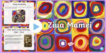 Arte Plastice de Ziua Mamei - PowerPoint - Ziua mamei, 8 martie, română, materiale, primăvară, arte plastice, prezentare, activități, act