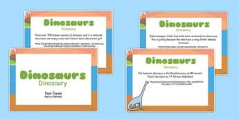 Dinosaur Display Fact Cards Polish Translation - polish, dinosaur, display, fact cards