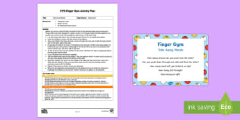EYFS Take Away Beads Finger Gym Plan and Prompt Card Pack - beads, balancing, take away, counting, early maths, funky fingers, fine motor control, finger gym, h