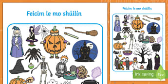 Halloween I Spy Activity Sheet Gaeilge