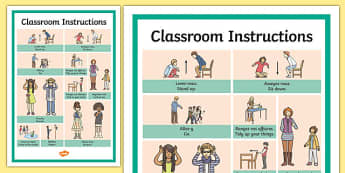 French Classroom Instructions Word Grid Translation - french, classroom, instructions, word grid