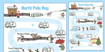 North Pole Role Play Map - north pole, role play, map, explore, roleplay