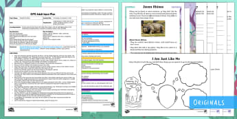 EYFS I'm Special, I'm Unique, I'm Me Adult Input Plan and Resource Pack - Ronald the Rhino, Twinkl story book, utw, special, unique, different, psd, psed, seal, circle time,