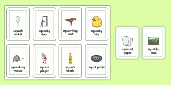 Three Syllable SQU Playing Cards - speech sounds, phonology, articulation, speech therapy, cluster reduction, complex clusters, three element clusters