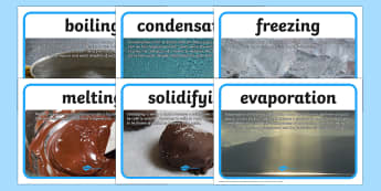 Changing States Description Posters - changing states, changing states posters, solids liquids and gases, changing states vocabulary posters, ks2 science
