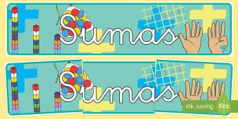 Pancarta - Sumas