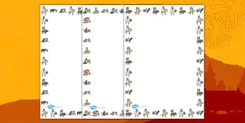 Chinese New Year Animal Symbols Page Borders - page border, border, frame, writing frame, chinese new year animal symbols, chinese animal symbols page borders, writing template, writing aid, writing, A4 page, page edge, writing activities, lined page