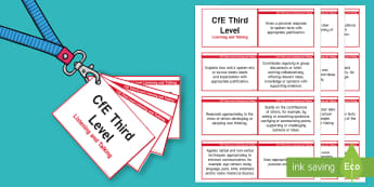 CfE Third Level Listening and Talking Lanyard-Sized Benchmarks - third level, listening and talking, benchmarks, assessment, Scottish, english, literacy