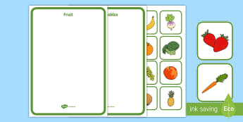 Fruit and Vegetables Sorting Activity  - farm, fruit, vegetables, sorting, sort, healthy eating, worksheet, activity,