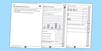Year 2 Maths Assessment Statistics Term 3 - Maths, Assessment, Statistics