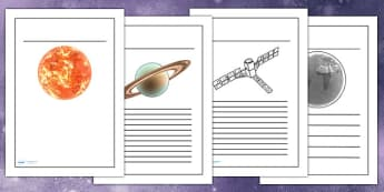 Space Writing Frames Detailed Images - space, planets, write