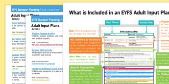 EYFS Summer Bumper Planning Pack Overview - EYFS, Early Years Planning, adult led, Summer, holidays, sun, seasons.