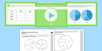 KS2 Reasoning Test Practice Pie Charts Resource Pack - KS2, Key Stage 2, Reasoning, pie charts, statistics, handling data