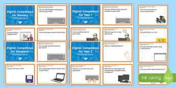 Digital Competence Foundation Phase Challenge Cards